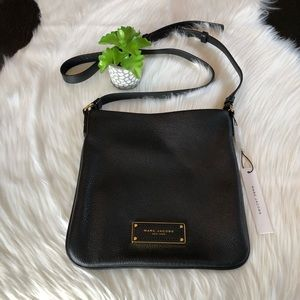 New Marc Jacobs Black Leather Crossbody Bag
